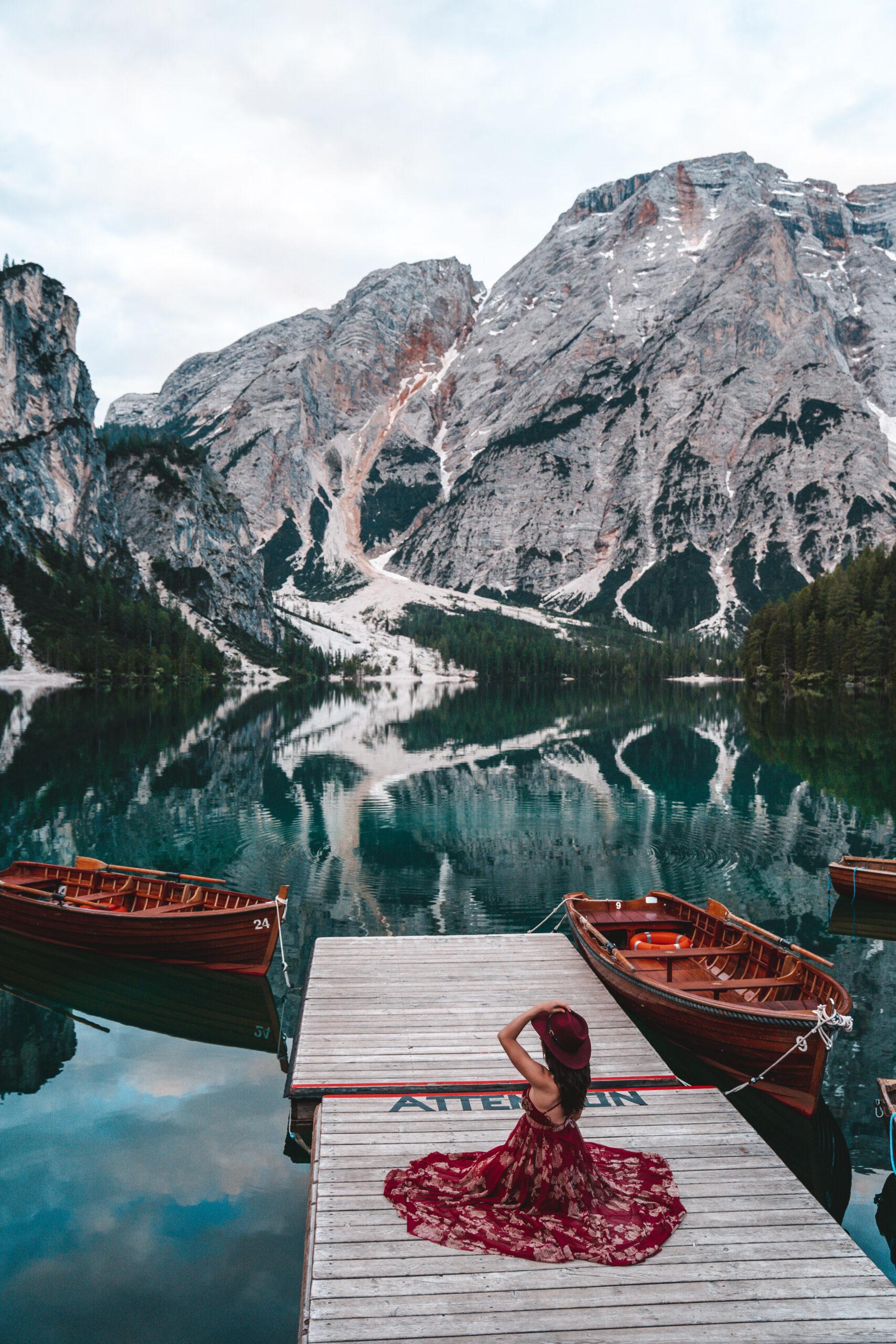 Lago di Braies creative photography