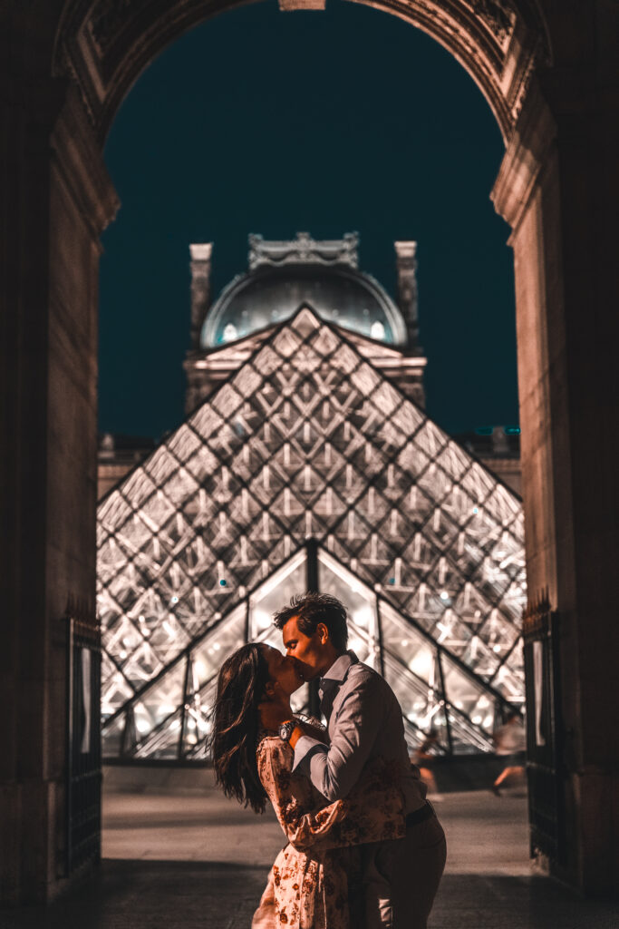 Louvre at Night | Couple Travel Photography