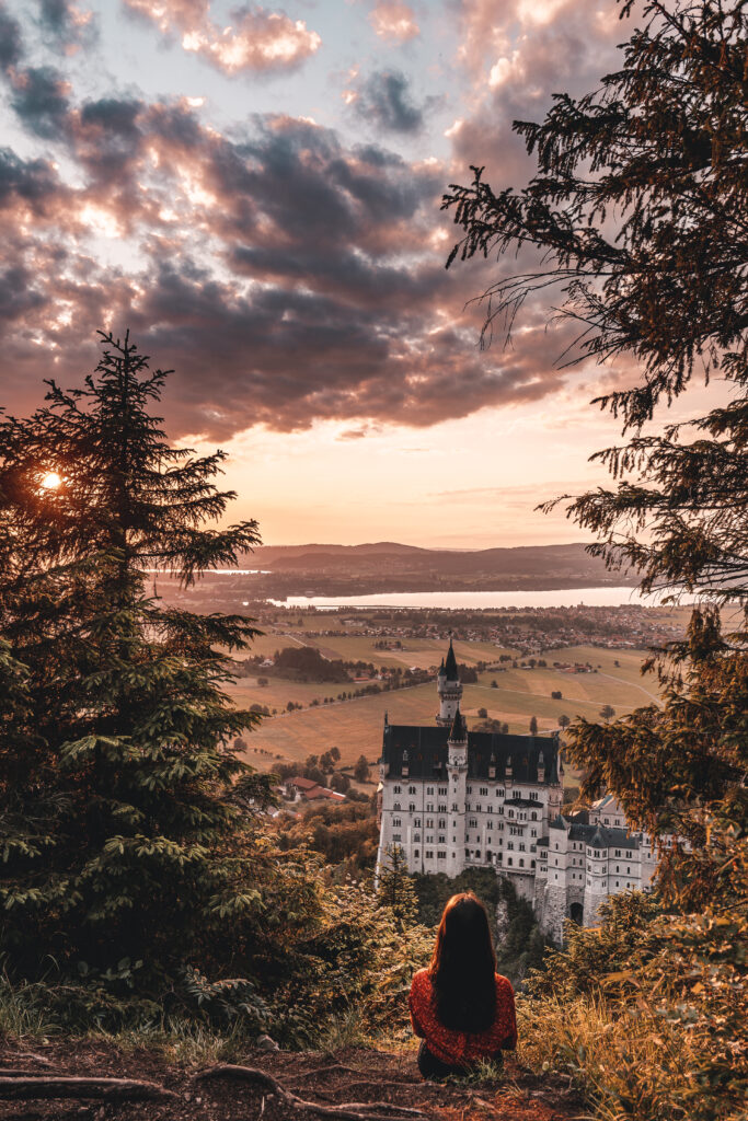 Schloss Neuschwanstein bei Sonnenuntergang |Travel Tips & Travel Guide by Tabitha & Florian