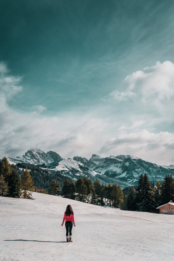 Alpe di Siusi in Winter |Best Things to do in the Dolomites |Best easy hikes in the Dolomites |Seiser Alm