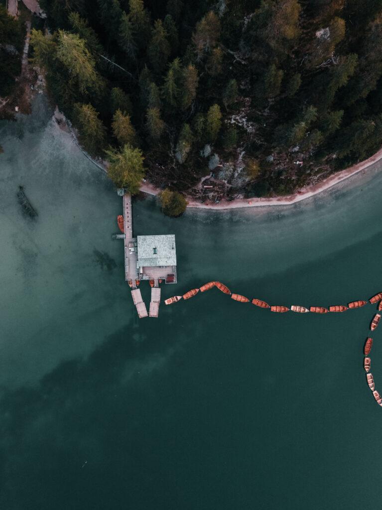 Lago di Braies | Drone Shot |South Tyrol | Dolomites
